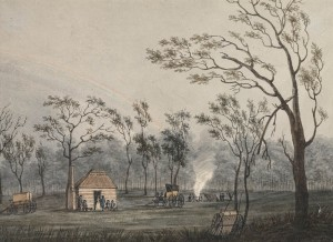 a928611h View of the Government Hut at Cowpastures 1804
